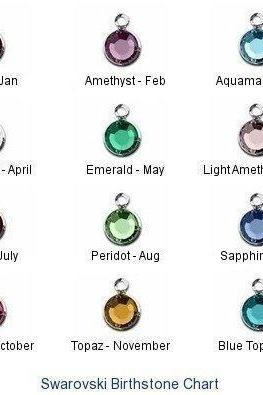 Swarovski Channel Birthstone Drops-ADD ON to any necklace