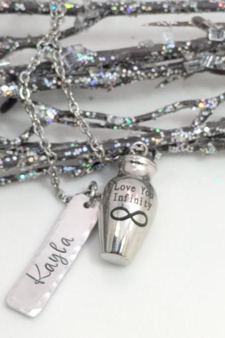 Cremation Jewelry - Personalized - Urn Necklace - Ash Holder - Loss Gift - Memorial - Keepsake - Locket for Ashes - Sympathy Gift - Pendant