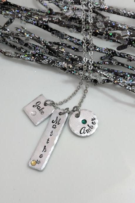 Personalized Gift for Mom- Gift for Grandma- Kids Name Necklace- Custom Necklace for Mom- Christmas Gift- Jewelry for Mom- Birthstones- Love