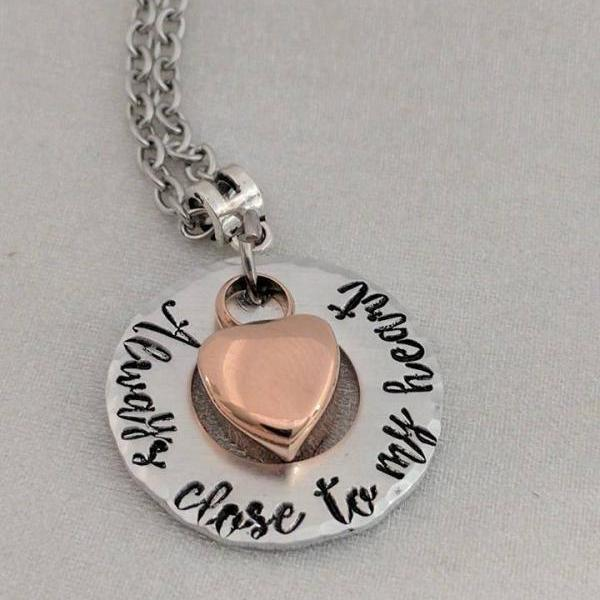 Always In My Heart - Urn Jewelry - Cremation Urn - Ashes Necklace - Heart Urn Necklace - Sympathy Gift - Loss of Loved One - Memory Jewelry